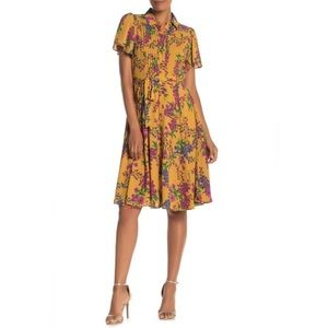 Nanette Lepore Flutter Sleeve Pleat Dress NWT